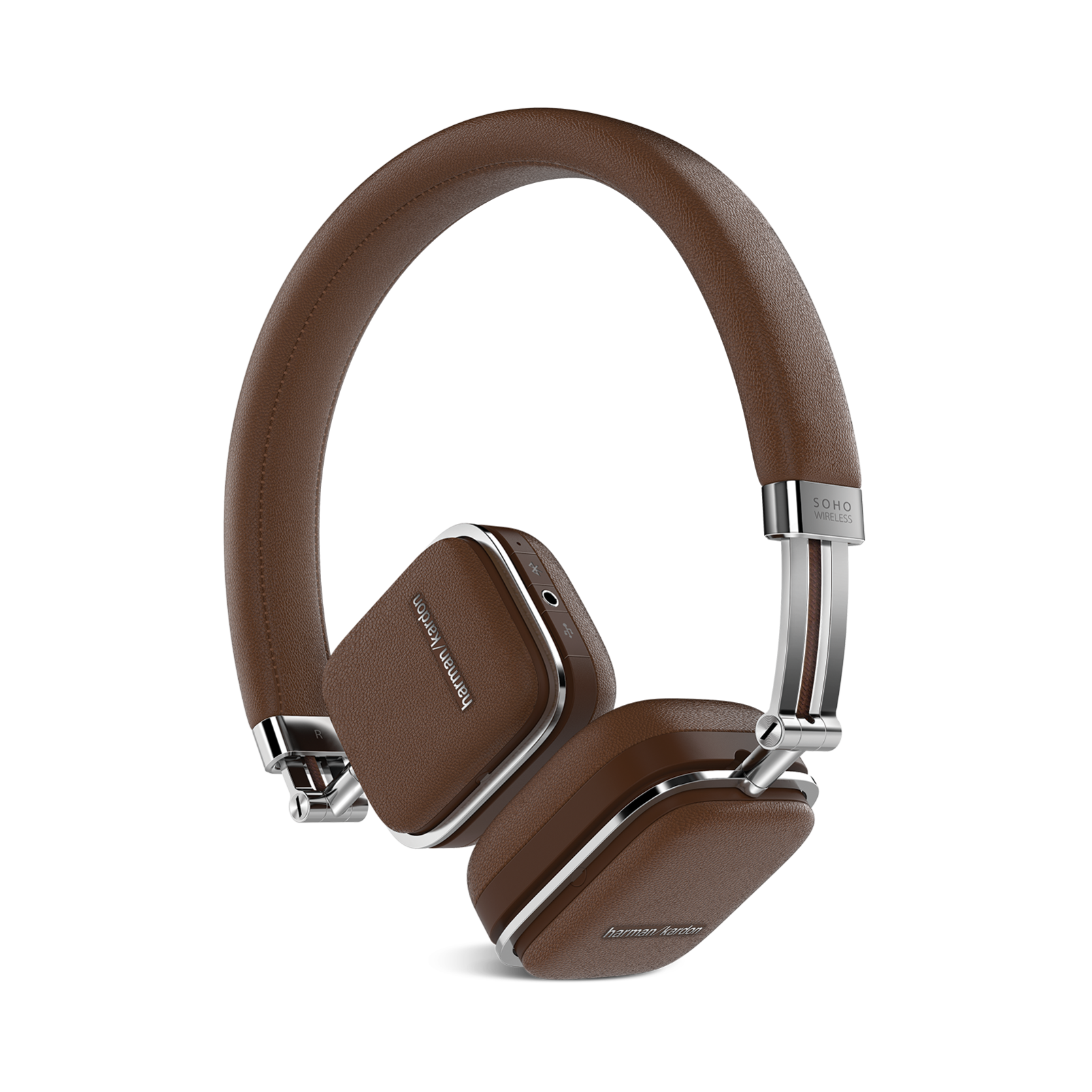 Soho Wireless - Brown - Premium, on-ear headset with simplified Bluetooth® connectivity. - Hero